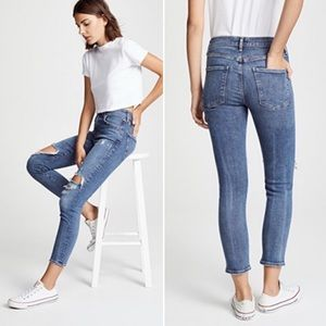 AGOLDE SOPHIE HIGH RISE SKINNY Distressed jeans